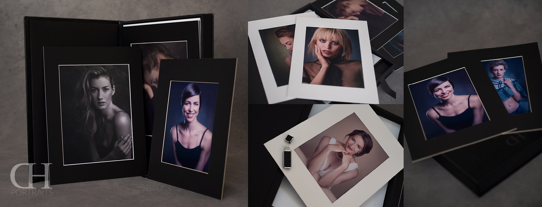 Leather Folio Boxes & Mats - Exclusive High Class Print Products - Dan Hostettler Portraits