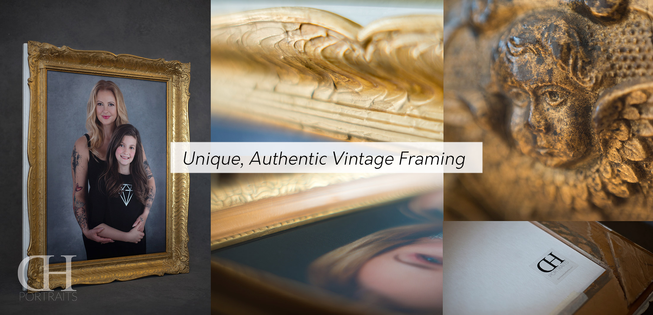 Unique Authentic Vintage Framing - Exclusive High Class Print Products - Dan Hostettler Portraits